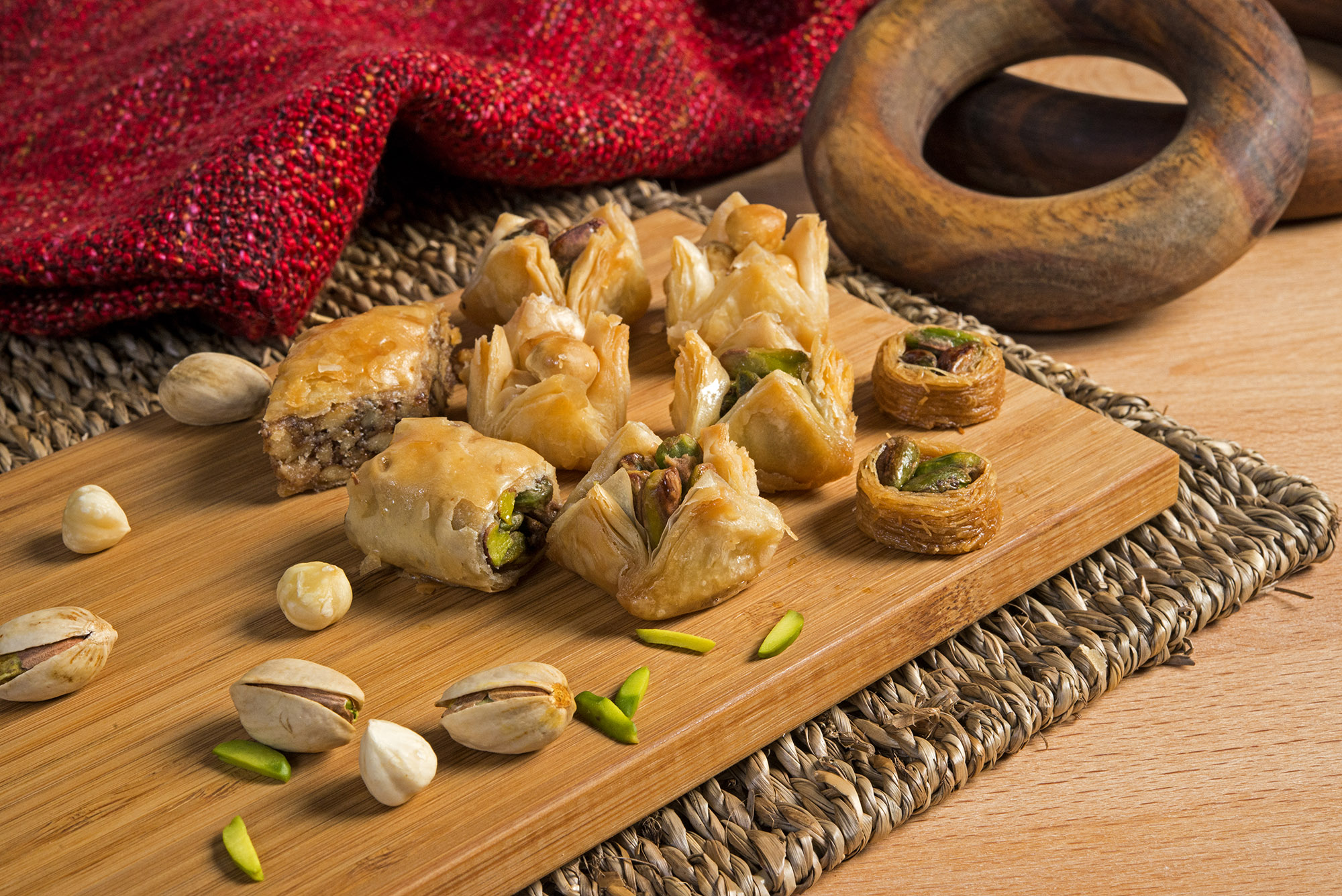 Mixed Oriental Sweets, Baklava by Mosaic